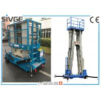 Multi Mast Mobile Elevating Work Platform Vertical Mast Lift For Single Man Manufactures