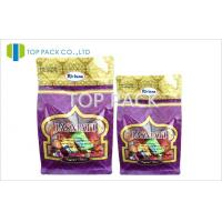 Flat Plain Stand Up Pouches Reseal Ziplock Pouch Custom For Candy Manufactures