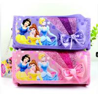 Purple / Pink Disney Princess Plush Pencil Bag with Zipper For Promotion Gifts Manufactures