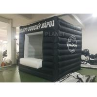 Black Small Inflatable Advertising Tent Oxford Cloth Logo Printing Manufactures