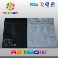 Aluminum Foil Plastic Electronics Packaging Bag Three Side Seal Zipper Pouch Manufactures