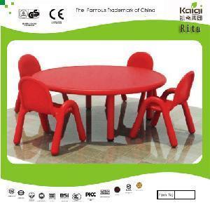 Plastic Round Table (KQ10184C) Manufactures