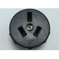 Buy cheap White Or Black PC Wall Argentina Electrical Sockets 3 Poles Female Round Single from wholesalers