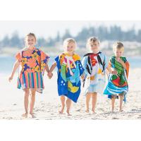 Custom Print Beach Kids Hooded Poncho Towel Manufactures