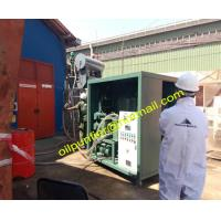 Buy cheap Double-Stage Vacuum Vaporation Type Transformer Oil Purifier, Insulation Oil Purification Plant onsite working for buyer from wholesalers