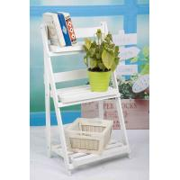 3 Tiers Wooden Outdoor Furniture Flower Pot Stand Foldable 2.9KG For Roomy Storage Manufactures