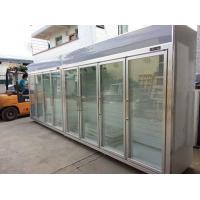 China Heater Glass Door Commercial Beverage Cooler For Supermarket / Store Two Layers wholesale