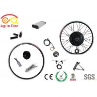 48V 350W Gearless Electric Bicycle Wheel Motor Kit With Rear Rack Battery Manufactures