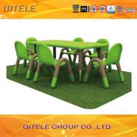 Green Children Table And Chairs For Nursery School 120 x 60 x 45 CM Manufactures