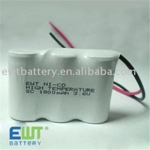 SC1800mAh*3 Ni-CD battery pack Manufactures