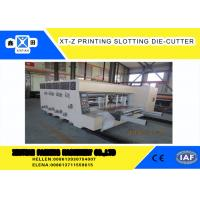 Carton box making Flexo Printing slotter  Machine With 100 Pieces / Min Max Speed ,Corrugated Carton Machinery Manufactures