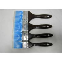 Blue Nylon Flat Paint Brush With Black Wooden Handle , Painting Tools For Walls Manufactures