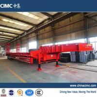 CIMC 3 axles fixed neck low loader trailer 80 tons Manufactures