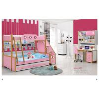 Buy cheap hot sale kids bedroom furniture kids bunk bed with dragged bed A01B from wholesalers