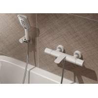 China White Golden All Copper ODM Smart Thermostatic Bathtub Faucet on sale
