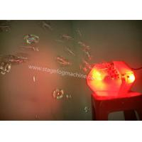 stage Bubble Machine 2*3W rgb LED Bubble Making Machine For Family Party , KTV Manufactures
