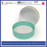 Round Shape Custom Packaging Boxes , Gift Boxes And Packaging Compact Size Manufactures