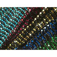 China Sequin Embroidered Tulle Fabric With Border Water Soluble on sale