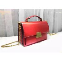 Mini Style Red Color Womens Shoulder Handbags With Handle , Genuine Cow Leather Manufactures