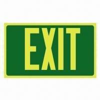 China Self-luminous Exit Sign with Super Long After Glow and Stronger Luminance on sale