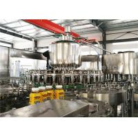 PLC Washing Capping Juice Bottle Filling Machine 3 Phase For 500ML Plastic Bottles Manufactures