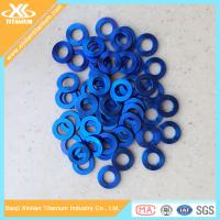 Blue Anodized Gr5 Titanium Plain Washer From China Factory Manufactures