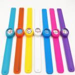 Fashion Personised Silicone Slap Watch Bracelet With Japan Quartz Movement Manufactures