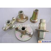 Galvanized Formwork Tie Rod System , Flanged Wing Nut Steel Cone SGS Approval Manufactures