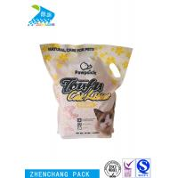 Stand Up Aluminium Foil Laminated Pouches Compound Type With Handle Manufactures