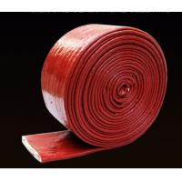 High Tenperature Silicone Rubber Cable Sleeve , Braided Fiberglass Sleeve 4-150mm Size Manufactures