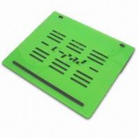 China Laptop Cooling Pad, Made of Acrylic, Available in Black, White, Yellow, Green, Blue and Pink on sale