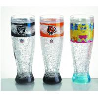 HT-18 plastic tall beer cup colors gel water PS material Cold drinks beer cup custom LOG Manufactures
