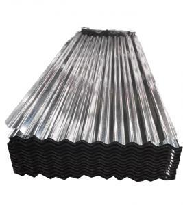 China 20 Gauge Corrugated Galvanized Steel Sheet 40 - 275 G/M2 Zinc Coating on sale