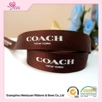 "China Polyester Custom Printed Grosgrain Ribbon With Brand Name Printed 3 / 8"" wholesale"