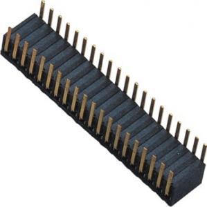 Phosphor Bronze 1.27mm 2x20 Female Header Dual Side Insert 90°DIP H=3.45 ROHS Manufactures
