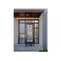 Sidelight Decorative Panel Glass , Architectural Stained Glass Door Panels Manufactures