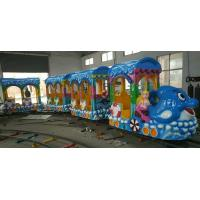 China 14 Seats Funfair Kiddie Train Ride With Gorgeous LED Lights And Exciting Music on sale