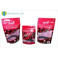 Multilayer Laminated Plastic Stand Up Pouches For Fruit Chocolate Moisture Proof Manufactures