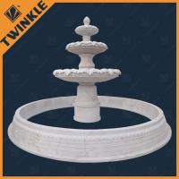Huge Stone Water Fountains White Marble With Outdoor Fountains Manufactures