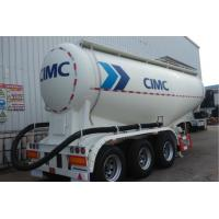 Three Axles Cement Tanker Trailer Q235 Q345 Carbon Steel Bulk Cement Truck Manufactures