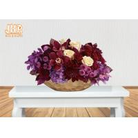 Frosted Gold Fiberglass Decoration Flower Serving Bowl Centerpiece Table Vase Manufactures