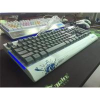 LED light wired gaming Mechanical Keyboard Aluminum mechanical keyboard Manufactures