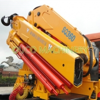 Yellow Cormach 10t Foldable Boom Lorry Mounted Crane Manufactures