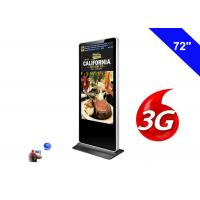 3G Digital Signage Wifi Shopping Mall Kiosk 72 Inch LCD Advertising Screen Panel Manufactures