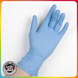 China Disposable powder free nitrile examination gloves on sale