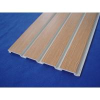 Plastic Taupe Slat Wall Panels / White Slatted Wall Panels For Shelves Manufactures