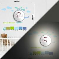LED wall sticker lamp, DIY VINYL sticker 3d night lamp for kids room decor Manufactures