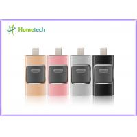 Mobile Phone USB Flash Drive For IOS / Android , I- Easy Drive With Aluminum Alloy Material Manufactures