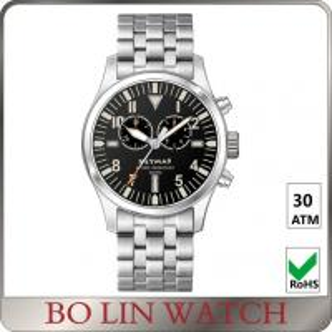 30 ATM Water Resistant Stainless Steel Mesh Watch , Quartz Movement Pilot Mens Watch Manufactures