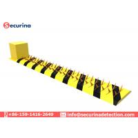 Stainless Steel Traffic Spike Barrier , Secure Tire Killer Anti Collision Warning Manufactures